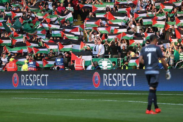 Pengibaran bendera ini juga tanda protes kepada Israel.
